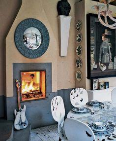 The amazing house of Barnaba Fornasetti, son of the milanese painter and interior designer Piero Fornasetti | Elle Decor Italia Nov 2011