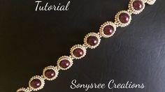 DIY pearl beaded bracelet(simple and elegant) square Stitch