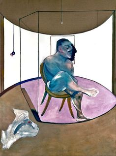 FRANCIS BACON- A more definite variation of 'Study for a Portrait', 1978, oil on canvas 198 x 147.5 cm Private Collection