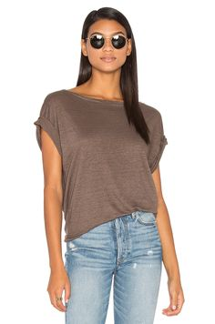 d81445a9d44 CP SHADES Ellery Off Shoulder Tee in Taupe Off Shoulder Tops, Brown Tops,  Revolve