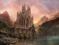 The Walls of Harrenhal concept art - game-of-thrones Photo Fantasy Places, Photo Art, Game Art, Fantasy Art, Futuristic City, Game Of Thrones Castles, Art, Fire Art, Scenery