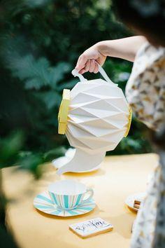 Fiesta geométrica en Wonderland - Decoración de fiestas en All Lovely Party
