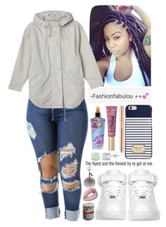 """""""++"""" by fashionfabulou ❤ liked on Polyvore featuring Michael Kors, NIKE, Victoria's Secret, Tom Dixon, Glitzy Rocks, AG Adriano Goldschmied, Helen Moore and Monki"""