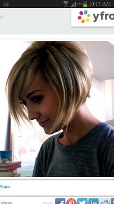 Short Bob {this is so cute - if I knew how to style this every day, I might go for the cut!)