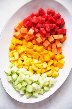 Mexican Fruit Salad - a fruit salad that combines watermelon, cantaloupe, honey dew, and mangoes