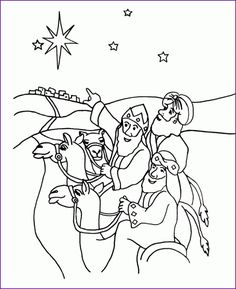 Wise Men Coloring Page Az Pages Pertaining To