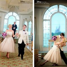 This is one of the Disney weddings on Disney's Fantasy Weddings