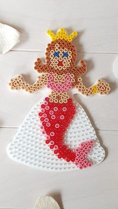 Beading template mermaid- Bügelperlen Vorlage Meerjungfrau Mermaid from beaded template - Diy Jewelry Unique, Diy Jewelry To Sell, Diy Jewelry Holder, Handmade Jewelry, Mermaid Wall Decor, Motifs Perler, Hama Beads Design, Peler Beads, Diy Jewelry Inspiration
