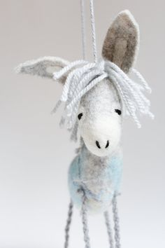 Felt Donkey  Gerard. Art Toy Felted toy by TwoSadDonkeys on Etsy