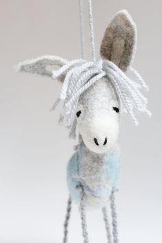 Felt Donkey  Gerard. Art Toy Felted toy by TwoSadDonkeys on Etsy