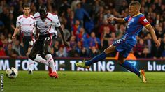 Palace v Liverpool - Dwight Gayle scores the second of his two goals to deal a serious blow to Liverpool's title hopes