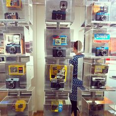 Lomo love! A shot of the Lomography store in downtown San Francisco.