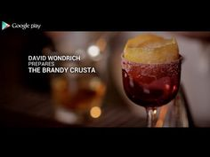 How to Mix Drinks with David Wondrich - Part 1 - The Brandy Crusta Mix Drinks, Yummy Drinks, Yummy Food, Tasty, Bartender Drinks, Alcoholic Drinks, Cocktails, American Drinks, Best Dishes