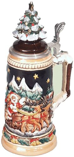 Beer Stein. Check out http://www.mybeersteins.com/