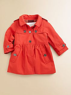 Burberry Infant's Raincoat and Pleat Trimmed Dress!! Extravagently adorable...Perfect for Harper Beckham:)