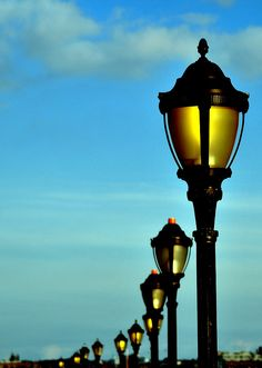 Lamps at Battery Park.