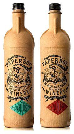 PaperBoy paper wine bottle  #wine #bottle