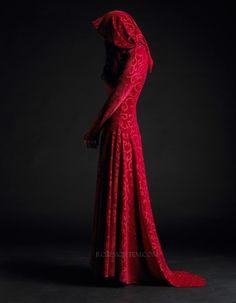 Calista Faerie Gown in Velvet - Custom Romantic Gothic and Faerie Clothing. $269.00, via Etsy.