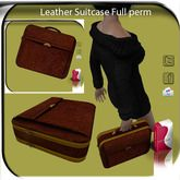 Leather Luggage Bagage Suitcase Full perm AO/UV Leather Texture
