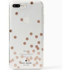 Kate Spade Confetti Rose Gold Foil Iphone 7 Plus Case ($32) ❤ liked on Polyvore featuring accessories, tech accessories, phone cases, phones, phone cover, phonecase and kate spade