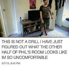 Also,can we talk about how Phil is wearing Dans clothes,like,the exact outfit Dan used to wear all the time. Same shirt and same shorts.