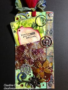 Claudines Art Corner: Altered Playing Card Steampunk Tag