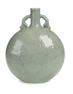 A Chinese Celadon Glaze Moonflask Yongzheng mark and period Celadon, Chinese Ceramics, Vase, London Art, Chinoiserie, Asian Art, Three Dimensional, Stoneware, Christmas Bulbs