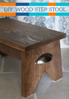 Check out this great advanced DIY project on how to make your very own wood step stool. You and your kids will love this project once it's complete.