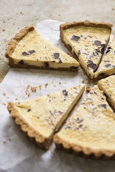 Great 'press in' crust (with almond flour) in this Chocolate-Orange Ricotta Tart from Christopher Kimball's Milk Street No Bake Desserts, Just Desserts, Dessert Recipes, Sweet Desserts, Tart Recipes, Baking Recipes, Keto Recipes, Chocolate And Orange Tart, White Chocolate