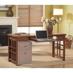 $468.00  Kathy ireland Home by Martin Furniture - Mission Pasadena Office Collection Laptop / Writing Desk in Mission - MP386-M