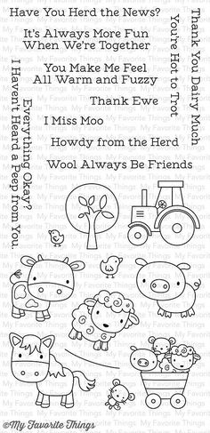 MFT STAMPS: Farm Friends