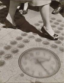 Sidewalk Clock, NYC by Ida Wyman