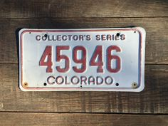Colorado Collector's Series License Plate Number 45946    #Colorado #AutoLicensePlate #ColoradoLicense #PlateNumber45946 #ColoradoPlate45946 #CollectorsSeries #CoLicensePlate #CO #CoTruckLicense #LicensePlate