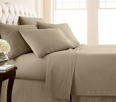 Set: Aspen Springs Double Brushed Sheets With Extra Deep Pockets   Assorted  Colors At Savings Off Retail!