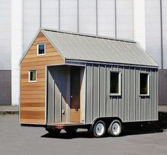 The Miter Box: Modern Tiny House on Wheels by Shelter Wise LLC