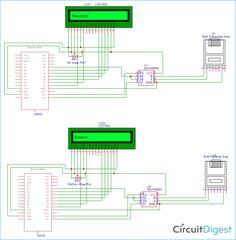 Long Distance Serial Communication using Arduino Circuit Diagram