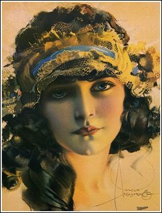 Art Nouveau Poster/Art Deco Print/Rolf Armstrong/Dream Girl With Long Tresses Rolf Armstrong, Art Nouveau Poster, Art Deco Print, Poster Art, Posters Vintage, Vintage Art, Vintage Images, Vintage Beauty, Vintage Woman