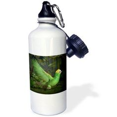 3dRose Deep Yellow Amazon Parrot, Sports Water Bottle, 21oz
