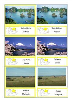 cartes nomenclature paysages Asie