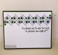 CAS card using The Alley Way Stamps~ Pillow Talk and Twisted Lime Trendy Twine