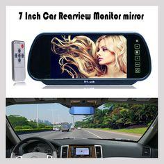 7Inch 800*480 Car Hd Display Rear View Mirror Monitor 2ch Video Input Parking Assistance TFT LCD Digital Car Monitor Mirror