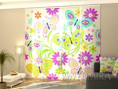 Fresh Set of Panel Curtains Butterfly Wellmira ModernCurtains PanelCurtains Curtains JapaneseCurtains