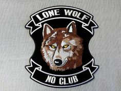 36 Awesome lone wolf biker patch