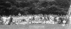 Basket Picnic b.C. Anglers & Vancouver Angling and Game Assoc. Bowen Island 24-7-27 - City of Vancouver Archives