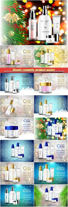 Download Luxury cosmetic bottle package skin care cream beauty cosmetic product poster Free