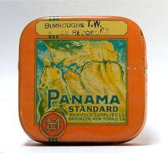 Vintage Panama Standard typewriter ribbon tin
