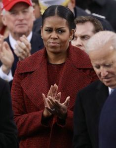 Throwing shade at the 2017 inauguration of Donald Trump. Not happy. Michelle Obama, Donald Trump, Happy, Donald Tramp, Ser Feliz, Being Happy