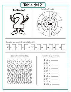 Matemáticas 2 1st Grade Worksheets, School Worksheets, Teaching Multiplication, Teaching Math, Dyslexia Activities, Math Websites, Addition And Subtraction Worksheets, Math Sheets, Cycle 2