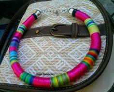 Desire Pink Choker Choker necklace Multicolor by UtopiaManufactory