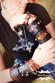 Leather Cuffs  http://www.etsy.com/shop/madleather